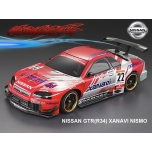 Matrixline Nissan GTR R34 195mm clear body + accessories