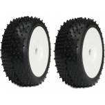 Medial Pro Turbo M2 (medium) 1/8 buggy tire, mounted on white Rex wheel (2)