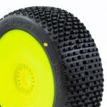 PROCIRCUIT H-BLOCK V2 Buggy C2 (Soft) pre-mounted, yellow wheels (2 pcs)