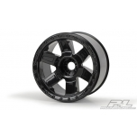 "Proline Desperado 3.8"" (Traxxas Style Bead) Black 1/2"" Offset 17mm Wheels"