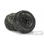 ProLine Badlands SC All Terrain tires 2.2/3.0 M2 on Split Six Spoke Black wheels Slash 2wd R, 4x4 F/R
