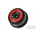 "Proline F-11 2.2""/3.0"" Red/Black Bead-Loc Wheels (Slash 4X4 F/R, Slash 2WD R) (2)"