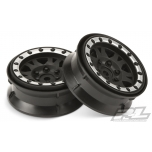 "Proline Impulse 1.9"" Black/Silver Plastic Internal Bead-Loc Wheels"