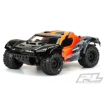 Proline Monster Fusion Body, Clear Pre-Cut For TRX Slash 2WD &  4X4 with 2.8 MT-wheels