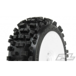 ProLine Badlands X2 Tires, mounted on V2 white Wheels (2)