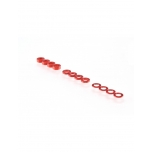 RUDDOG 3mm Washer Set Red (0.5mm/1.0mm/2.0mm) (4 each)