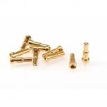 RUDDOG 4 / 5mm Dual Bullet Gold Plug Male (10pcs)