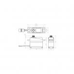 SAVÖX SV-1250MG midi servo (8kg/0.095sek@7.4V)