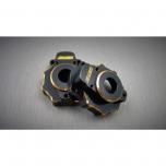 Samix brass portal knuckle cover (F/R), 55g/set, TRX-4