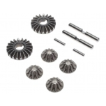 TLR Gear Set, G2 Gear Diff, Metal: 22