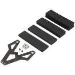 TLR Battery Strap, Carbon Fiber/Alum: 22 3.0