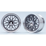 Yokomo 10 Spoke Wheels - Gunmetalic (2)