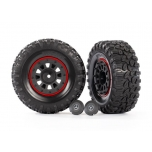 """Tires and wheels, assembled, glued (2.2"""" black Mercedes-Benz® G 63® wheels, Canyon RT 4.6x2.2"""" tires) (2)"""