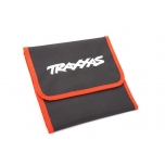 Tool pouch, red (custom embroidered with Traxxas logo)