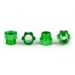 Stub axle nut, aluminum (green-anodized) (4)