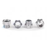 Stub axle nut, aluminum (grey-Anodized) (4)