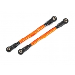 Toe links, front (TUBES orange-anodized, 6061-T6 aluminum) (2) (for use with #8995 WideMaxx  suspension kit)