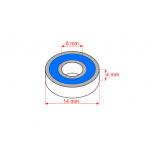 GForce ball bearing 8x14x4 ABEC 3, rubber shields (4 pcs)