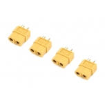 XT-60 Gold plated, for battery (4 pcs)