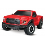 Traxxas 2017 Ford Raptor 2WD 1/10 RTR, 12T Titan brushed motor + battery & 12V DC charger, RED