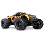 Traxxas MAXX VXL-4S TSM Monster Truck RTR (w/o Battery/Charger), Solar Flare