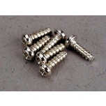 Screws, 2x6mm roundhead self-tapping (6)