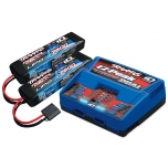 Traxxas Dual iD charger (2972) + 2x 7600mAh 7.4V 2S 25C LiPo battery (2869X)