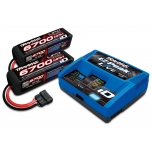 Traxxas Battery/Charger Completer Pack, EZ-Peak Live Charger +2x4S 6700mAh LiPo (X-Maxx 8S) EU version