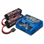 Traxxas Battery/charger completer pack (includes #2973 Dual iD charger (1), #2890X 6700mAh 14.8V 4-cell 25C LiPo battery (2))