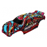 Traxxas Rustler Hawaiian style painted body with decals