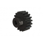 Traxxas 18-T pinion (32-p), heavy duty (machined, hardened steel)/ set screw