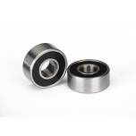 Ball bearings, black rubber sealed (4x10x4mm) (2)