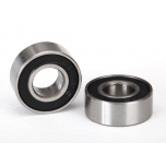 Ball bearings, black rubber sealed (6x13x5mm) (2)