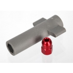 Antenna crimp nut, aluminum (red-anodized)/ antenna nut tool