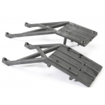Skidplates, front & rear (black) Slash 2WD