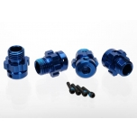 Traxxas Wheel hub, splined, 17mm, 6061-T6 alu (blue-anodized) for 6mm axles XO-1 (4pc)