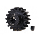 Traxxas Gear, 18-T pinion (machined) (MOD 1.0) (5mm shaft) (compatible with steel spur gears)