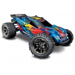 TRAXXAS Rustler VXL 4x4 Brushless (w/o battery and charger), Red/Blue