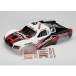 Body, Jeff Kincaid, Slash 4x4, painted (white/black/red) + decal sheet