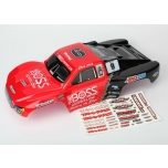 Body, Chard Hord, Slash 4x4, painted (red/black) + decal sheet