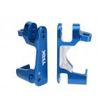 Traxxas C-hubs front L/R, 6061 Alu, blue anodized