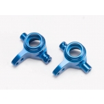 Traxxas Steering blocks 6061 Alu, blue anodized