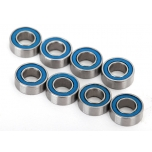 Traxxas Ball bearings, blue rubber sealed (4x8x3mm) (8tk)