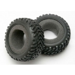 Traxxas Tires, off-road racing, 1/16, 1/18 SCT dual profile (1 each right & left)/ foam inserts (2)