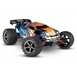 TRAXXAS E-Revo 4WD RTR (Brushed) 1/16 + battery & 12V-charger, Orange/Blue