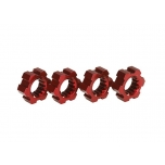 Wheel hubs, hex, aluminum (red-anodized) (4)