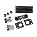 Grille, Land Rover® Defender®/ grille mount (3)/ headlight housing (2)/ lens (2)/ headlight mount (2) (fits #8011 body)