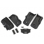 Fenders, inner, front & rear (2 each)/ rock light covers (8)/ battery plate/ 3x8 flat-head screws (4), TRX-4