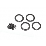 Beadlock Rings Black (1.9') Alu (4) + Screw