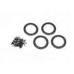 """Traxxas Beadlock rings, black (1.9"""") (aluminum) (4)/ 2x10 CS (48)"""